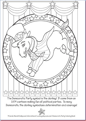 political party symbols coloring pages - photo#1